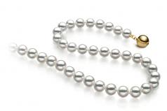 6.5-7mm Hanadama - AAAA Quality Japanese Akoya Cultured Pearl Necklace in Hanadama 16-inch White