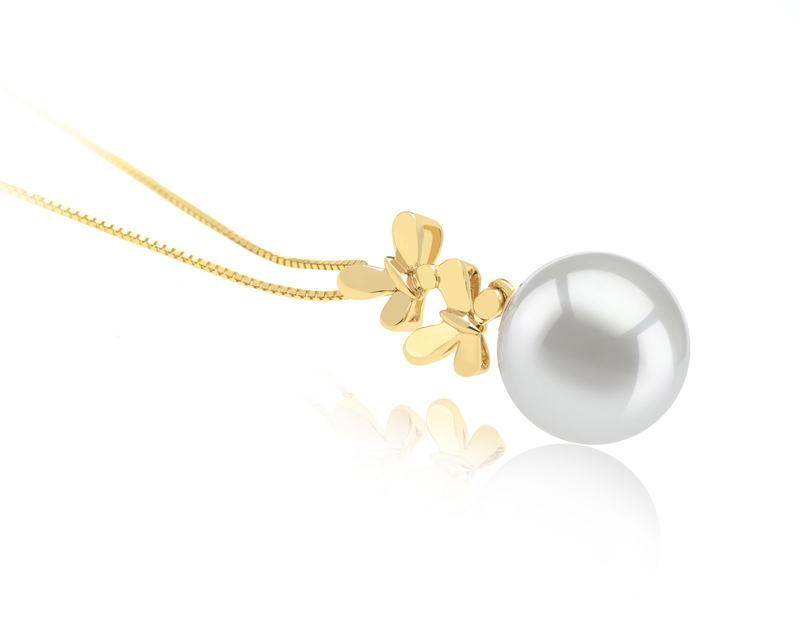 10-11mm AAA Quality South Sea Cultured Pearl Pendant in Barbara White