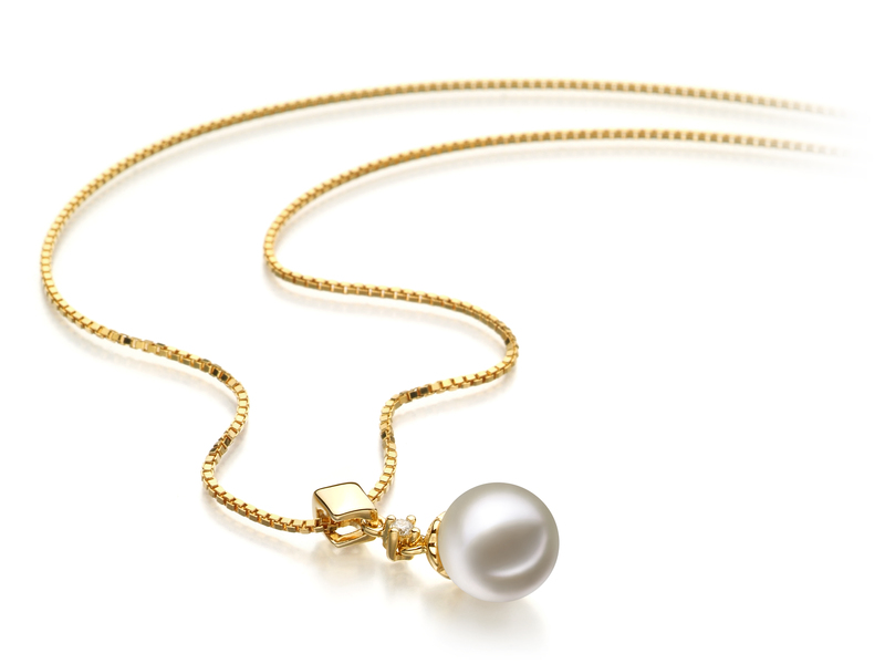 7-8mm AAAA Quality Freshwater Cultured Pearl Pendant in Georgia White