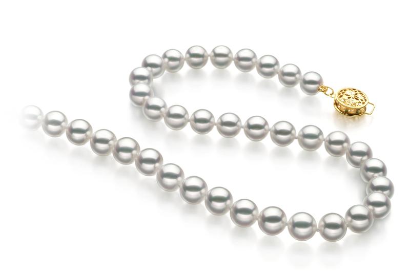 6.5-7mm Hanadama - AAAA Quality Japanese Akoya Cultured Pearl Necklace in Hanadama 18-inch White