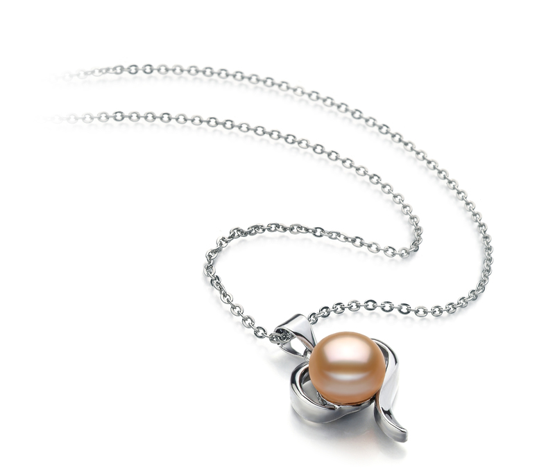 9-10mm AA Quality Freshwater Cultured Pearl Pendant in Leeza Pink