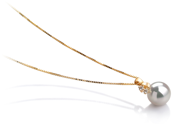 7-8mm AAA Quality Japanese Akoya Cultured Pearl Pendant in Luella White