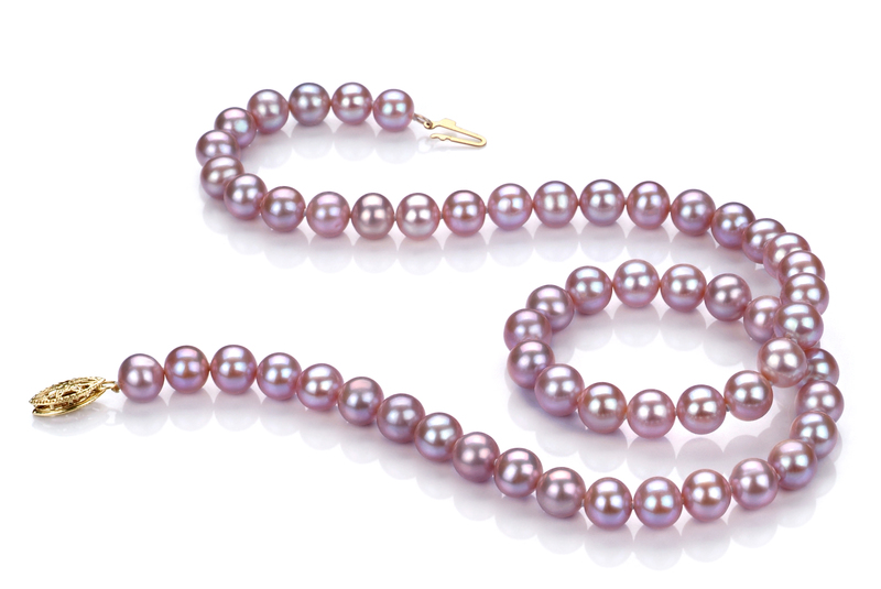 6-6.5mm AA Quality Freshwater Cultured Pearl Necklace in Lavender