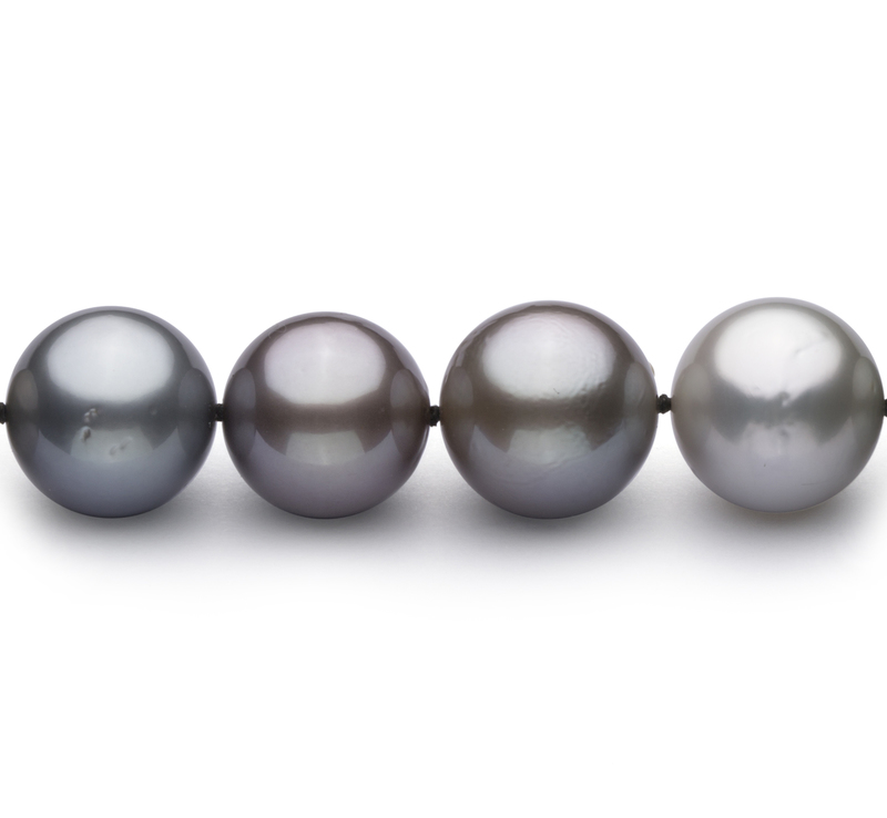 10.4-13.9mm AAA Quality Tahitian Cultured Pearl Necklace in Multicolor