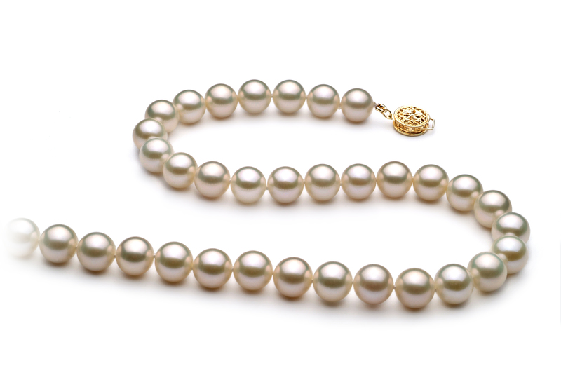 8-9mm AAA Quality Freshwater Cultured Pearl Necklace in White