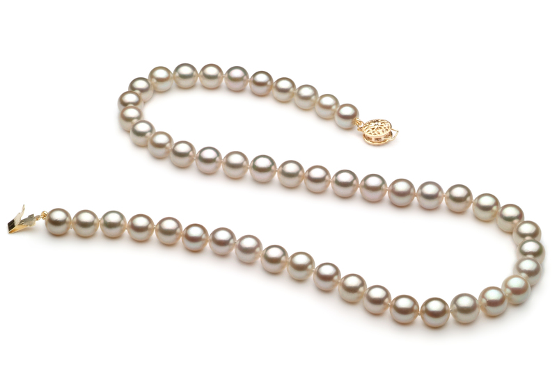 7-7.5mm AA Quality Japanese Akoya Cultured Pearl Necklace in White