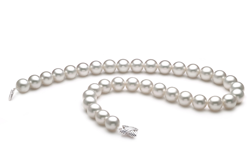 12-13mm AAA Quality South Sea Cultured Pearl Necklace in White