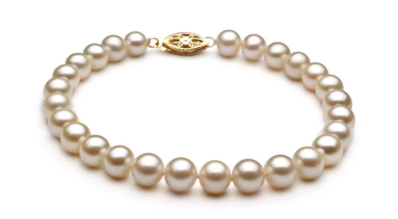 6-7mm AA Quality Freshwater Cultured Pearl Set in White