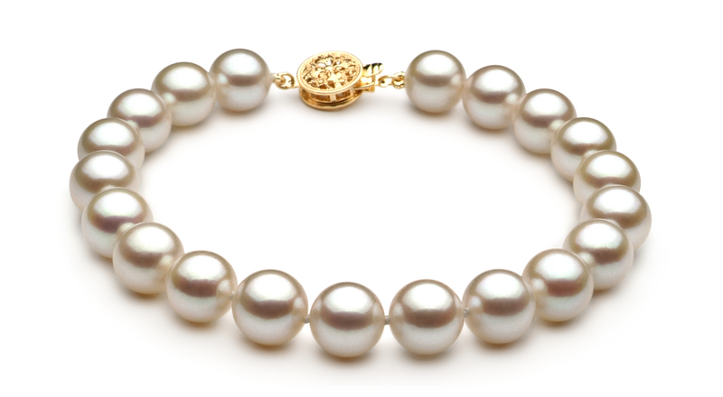 8.5-9mm AAA Quality Japanese Akoya Cultured Pearl Set in White