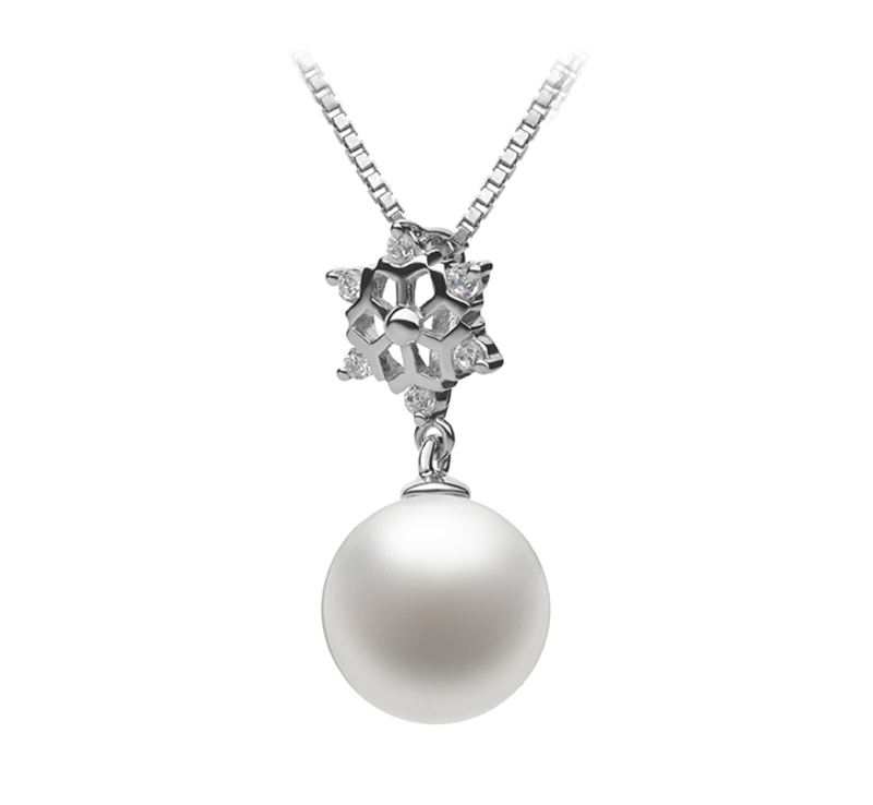 10-11mm AAAA Quality Freshwater Cultured Pearl Pendant in White
