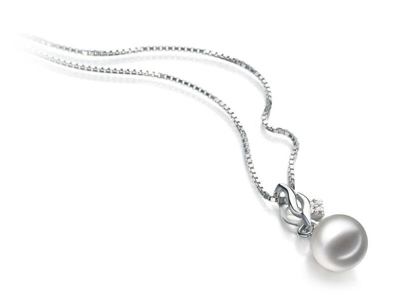 7-8mm AA Quality Japanese Akoya Cultured Pearl Pendant in Zalina White
