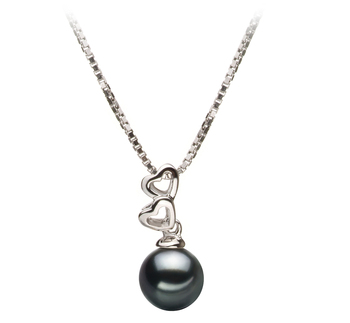 Amber Black 6-7mm AA Quality Japanese Akoya 925 Sterling Silver Pearl Pendant