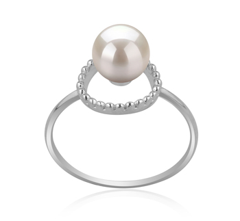 6-7mm AAAA Quality Freshwater Cultured Pearl Ring in Andy White