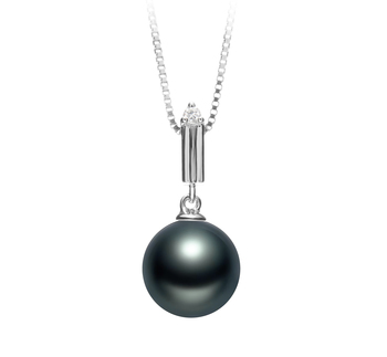 10-11mm AAA Quality Tahitian Cultured Pearl Pendant in Aoife Black