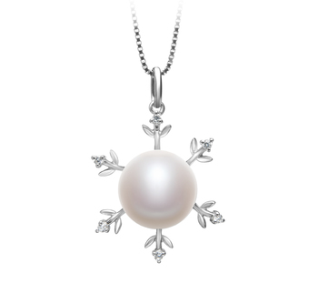 12-13mm AA Quality Freshwater Cultured Pearl Pendant in Besty White