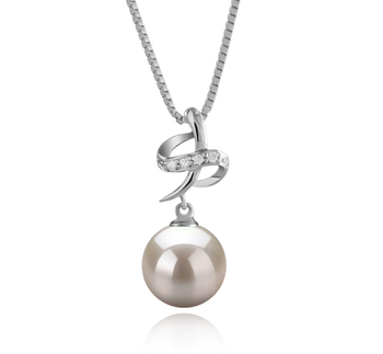 10-11mm AAAA Quality Freshwater Cultured Pearl Pendant in Bridget White