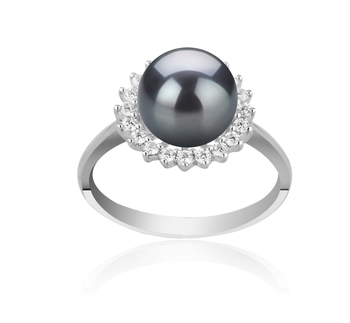 8-9mm AAAA Quality Freshwater Cultured Pearl Ring in Dreama Black