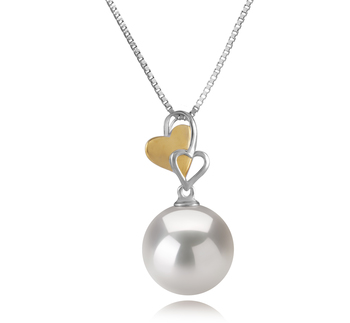 11-12mm AA+ Quality Freshwater - Edison Cultured Pearl Pendant in Felicia White