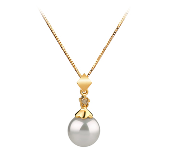 7-8mm AAA Quality Japanese Akoya Cultured Pearl Pendant in Georgia White