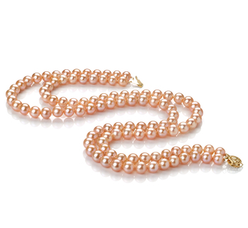 7-8mm AA Quality Freshwater Cultured Pearl Necklace in Jamilia Pink