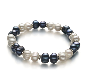 6-7mm A Quality Freshwater Cultured Pearl Bracelet in Jemima Black