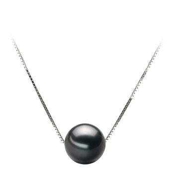 9-10mm AA Quality Tahitian Cultured Pearl Pendant in Kristine Black