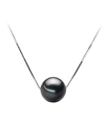 9-10mm AA Quality Tahitian Cultured Pearl Pendant in Kristine Black