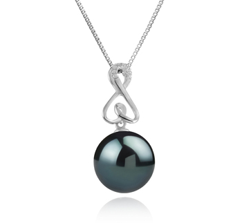 12-13mm AAA Quality Tahitian Cultured Pearl Pendant in Patsy Black