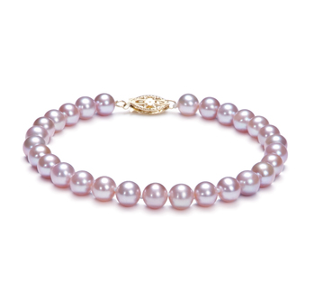 6-6.5mm AA Quality Freshwater Cultured Pearl Bracelet in Lavender