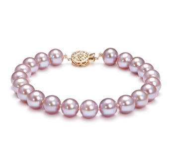 8.5-9.5mm AAA Quality Freshwater Cultured Pearl Bracelet in Lavender