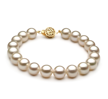 8-8.5mm AAAA Quality Freshwater Cultured Pearl Bracelet in White