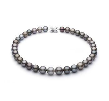 11-14.6mm AAA Quality Tahitian Cultured Pearl Necklace in Multicolor