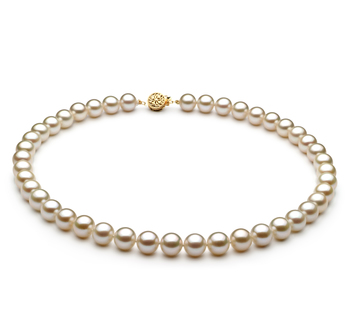8-8.5mm AAAA Quality Freshwater Cultured Pearl Necklace in White