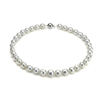 9.5-12mm A Quality South Sea Cultured Pearl Necklace in White