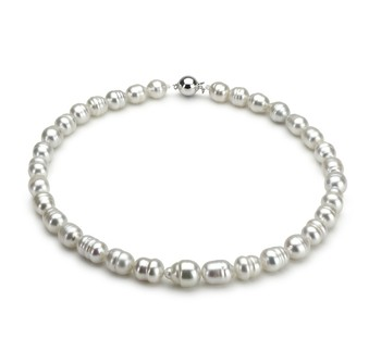 9-12mm Baroque Quality South Sea Cultured Pearl Necklace in White
