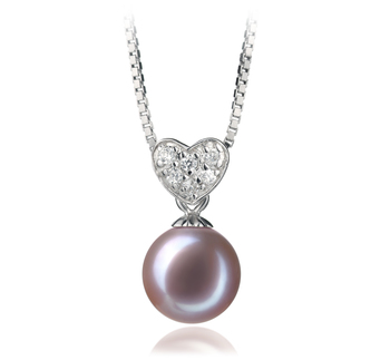7-8mm AAAA Quality Freshwater Cultured Pearl Pendant in Randy Lavender