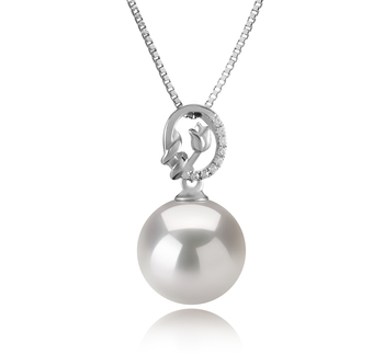 11-12mm AA+ Quality Freshwater - Edison Cultured Pearl Pendant in Trish White