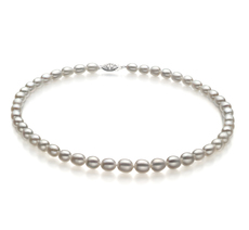 Drop White 8.5-9.5mm AA Quality Freshwater Cultured Pearl Necklace