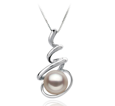 8-9mm AAA Quality Japanese Akoya Cultured Pearl Pendant in Eldova White