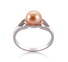 6-7mm AA Quality Freshwater Cultured Pearl Ring in Jessica Pink
