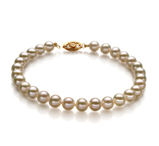 5.5-6mm AAA Quality Freshwater Cultured Pearl Bracelet in White