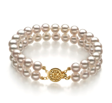 6-7mm AA Quality Japanese Akoya Cultured Pearl Bracelet in White