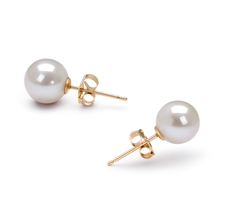 6-7mm AAAA Quality Freshwater Cultured Pearl Earring Pair in White