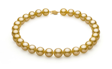 14-15.7mm AAA+ Quality South Sea Cultured Pearl Necklace in Gold