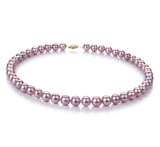 8.5-9mm AA Quality Freshwater Cultured Pearl Necklace in Lavender