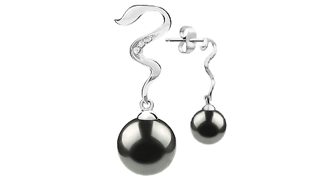 Black Japanese Akoya Pearl Earrings