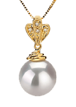 White South Sea Pearl Pendants