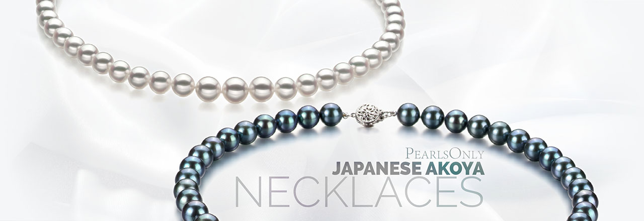 Landing banner for Japanese Akoya Necklace