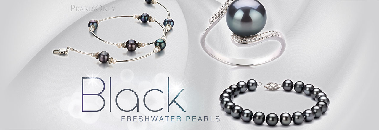 Landing banner for Black Freshwater Pearls