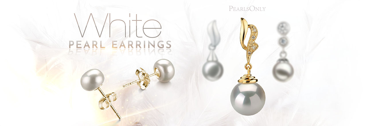 Landing banner for White Pearl Earrings